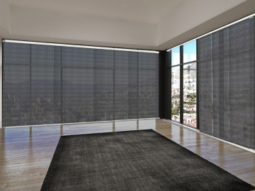 Panel japonés screen 3500 ignífugo negro plata