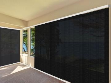 Panel japonés screen 5000 ignífugo negro