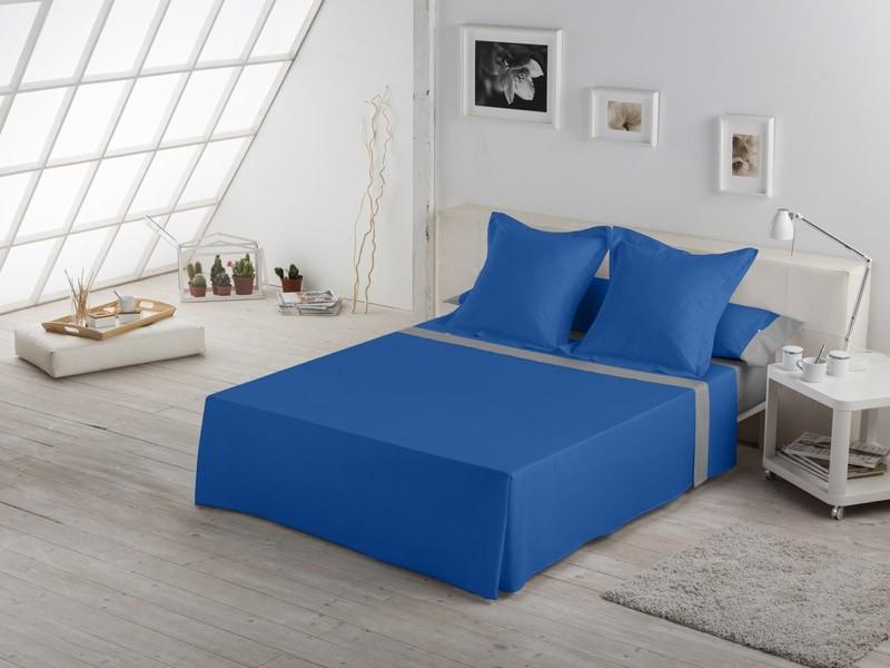 Juego de sábanas LISO con APLIQUE azulon ploco