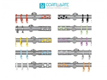 Mecanismo barra cortina INFINITY COLORS
