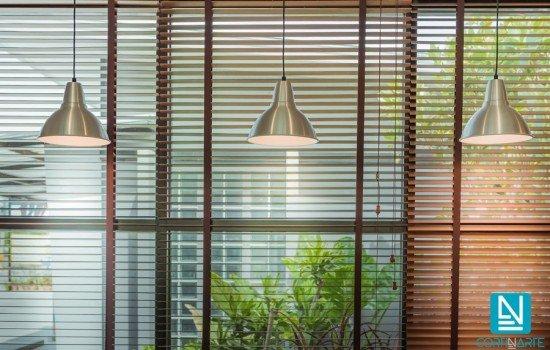 Cortinas venecianas para grandes ventanales