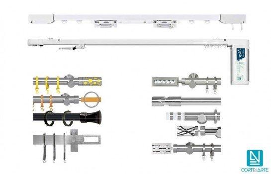 Mecanismos para cortinas barras rieles Cortinarte