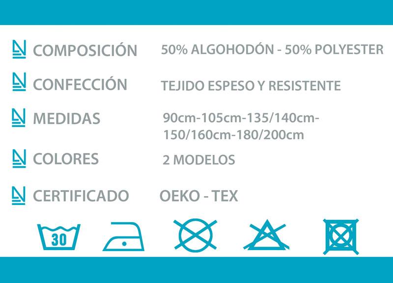 Ficha técnica colcha tejido Cangas