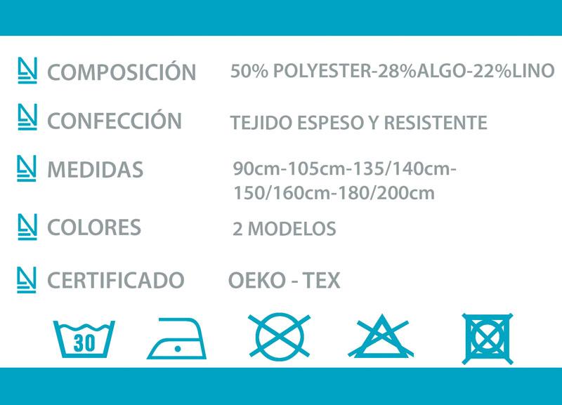 Ficha técnica colcha tejido Lloret