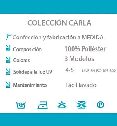 Cortina decorativa COCINA datos tecnicos CARLA