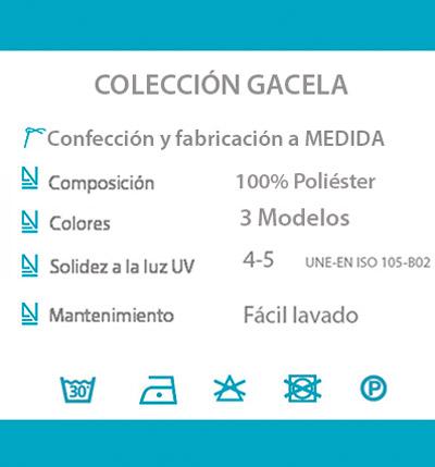 Cortina decorativa COCINA datos tecnicos GACELA