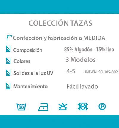 Cortina decorativa COCINA datos tecnicos TAZAS