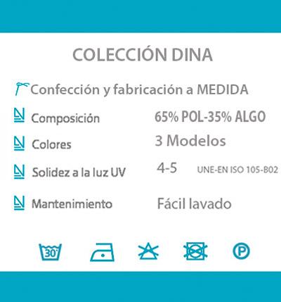 Cortina decorativa COCINA datos tecnicos DINA
