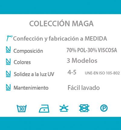 Cortina decorativa COCINA datos tecnicos MAGA