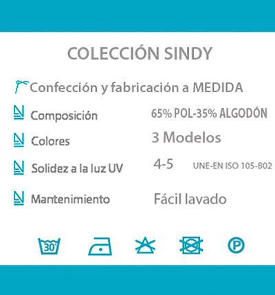 Cortina decorativa COCINA datos tecnicos SINDY