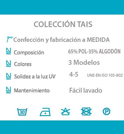 Cortina decorativa COCINA datos tecnicos TAIS