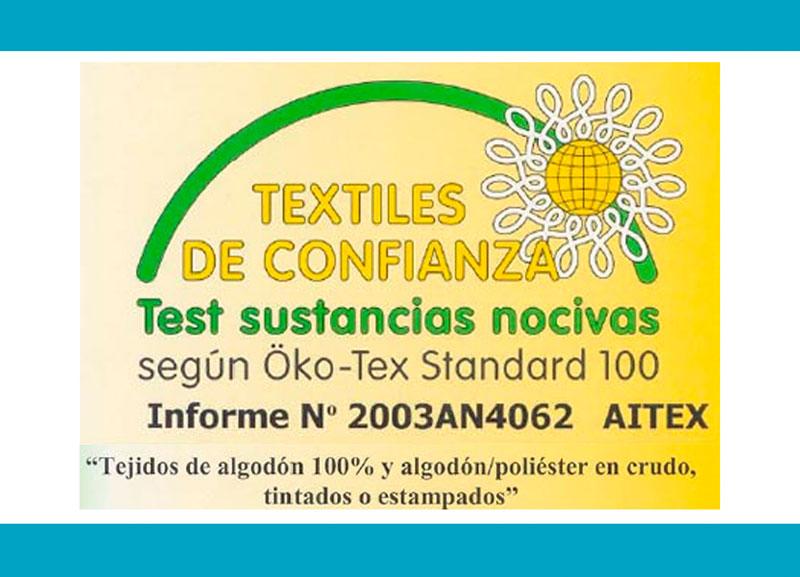 Certificado calidad Juego de sábanas liso bies 50 50