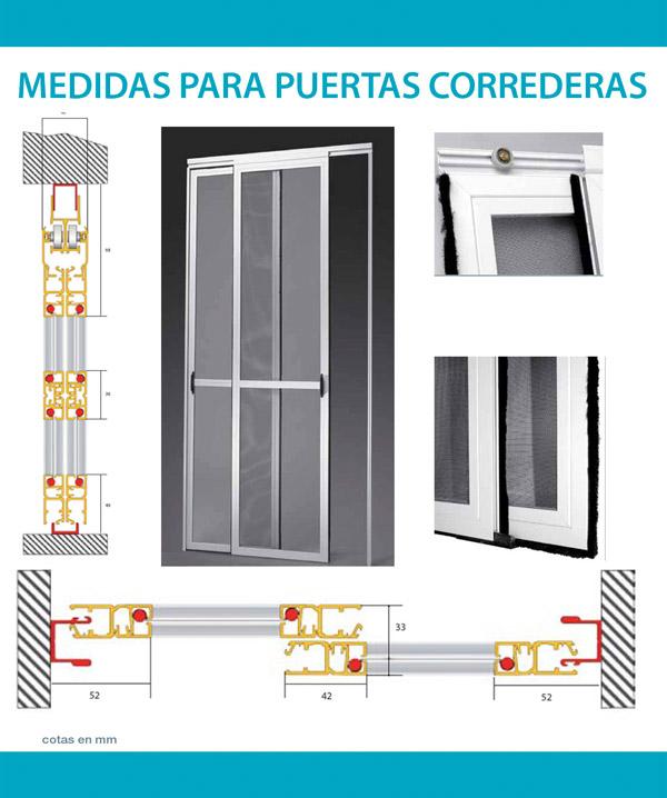 Medidas para puertas mosquitera corredera