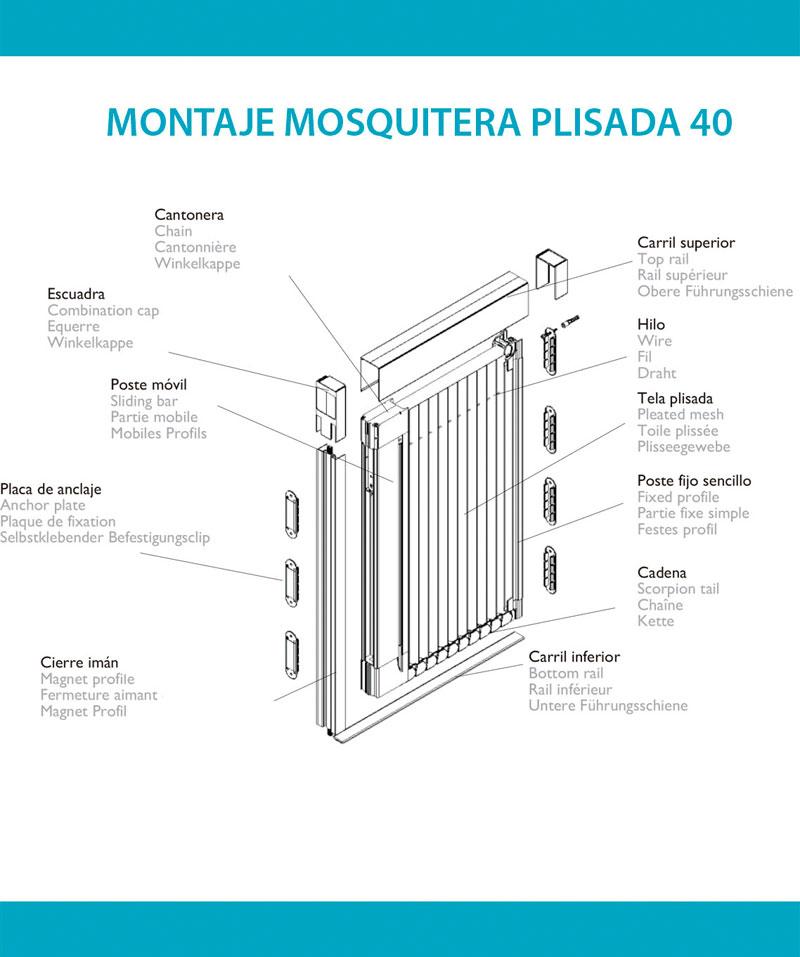 Montaje mosquitera plisada 40