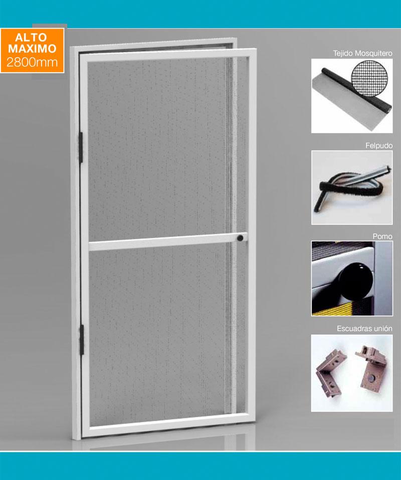 Detalles técnicos Mosquitera puerta abatible