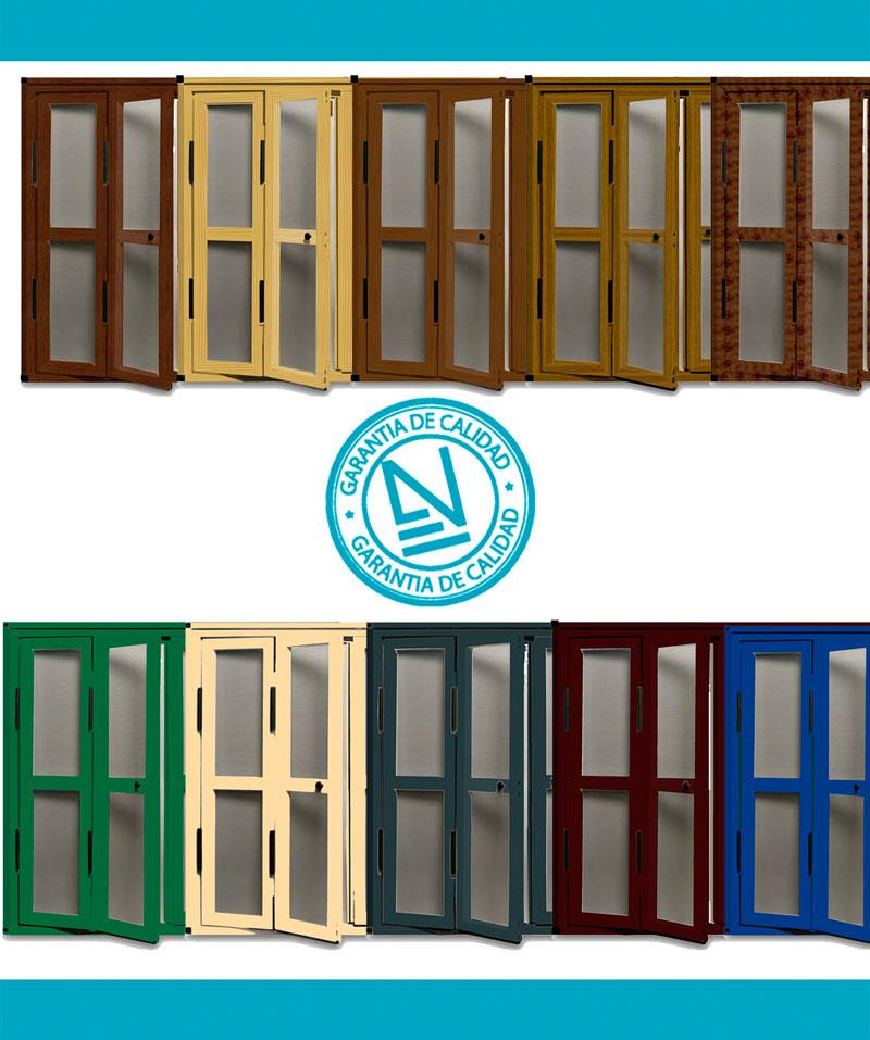 Gama de colores Mosquitera puerta abatible