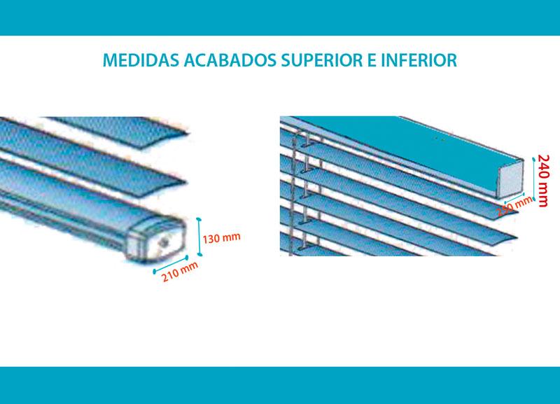 Medidas acabados venecianas aluminio