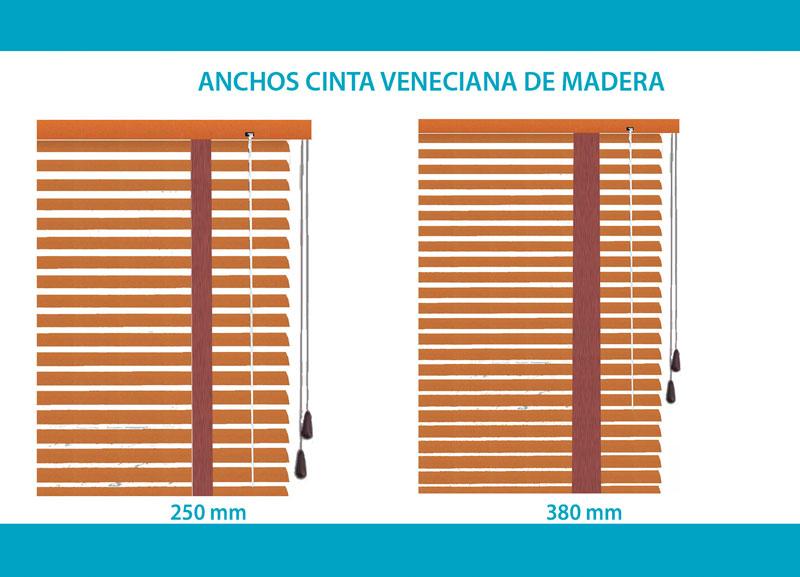 Anchos cinta Veneciana madera basic
