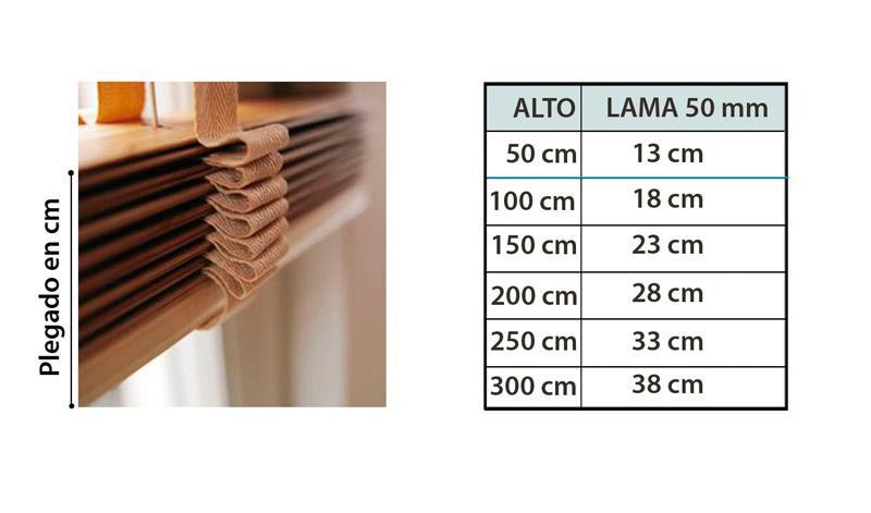 Plegado Veneciana madera basic